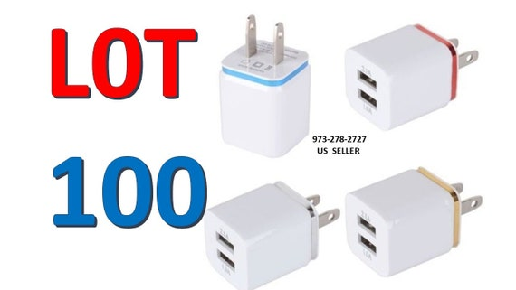 LOT 10 x Dual USB 2-Port  Car Charger Adapter for iPhone 5S 5 4S 4 GALAXY S4 S3