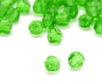 Tee Beads 25 Count T-Bead Translucent Fluorescent Green Plastic Beads Guide