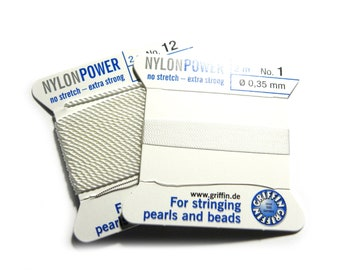 HP HIGH PERFORMANCE WHITE BEAD CORD 0.3mm STRINGING PEARLS BEADS GRIFFIN 0