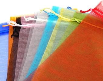 25//50//100pcs Sheer Organza Wedding Party Favor cadeau Bonbons Sacs Bijoux Pochettes