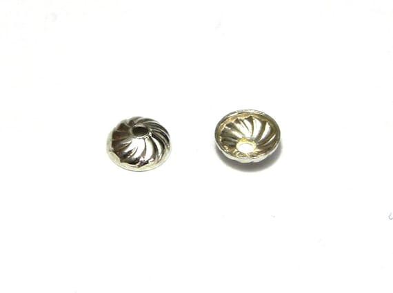 6 or 12 SOLID 925 STERLING SILVER Flower Petal Bead Caps 3mm or 6mm UK
