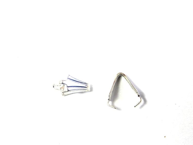 10 pc. 9 mm Medium Silver Plated Brass Pinch Bails