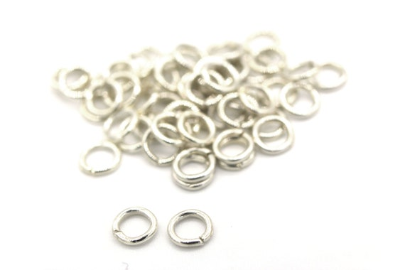 100pcs. Jumprings Silver Plated Heavy Strong OD-6mm