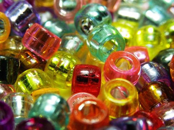 100 Couleurs Mélangées Acrylique Transparent Facette Goutte Perles 9X14mm