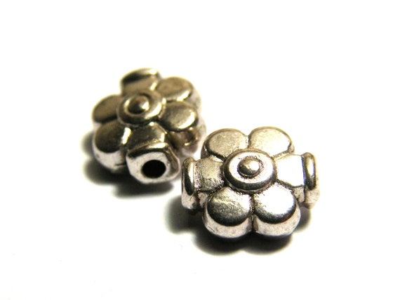 ANTIQUE SILVER~FLOWER~TIBETAN STYLE~SPACER BEADS CONNECTORS ~ 18 x 10 x 5 MM