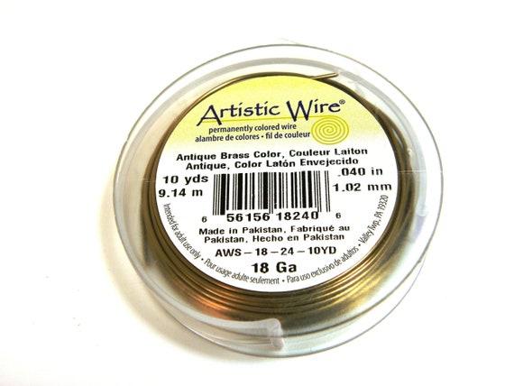 Antique Brass Wire Artistic Wire 20 Gauge Antique Brass Gun Metal 41098 Round Wire Dead Soft Temper Wire