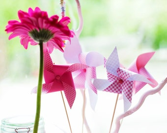 Set of 10 pinwheels for Candy bar or Sweet table
