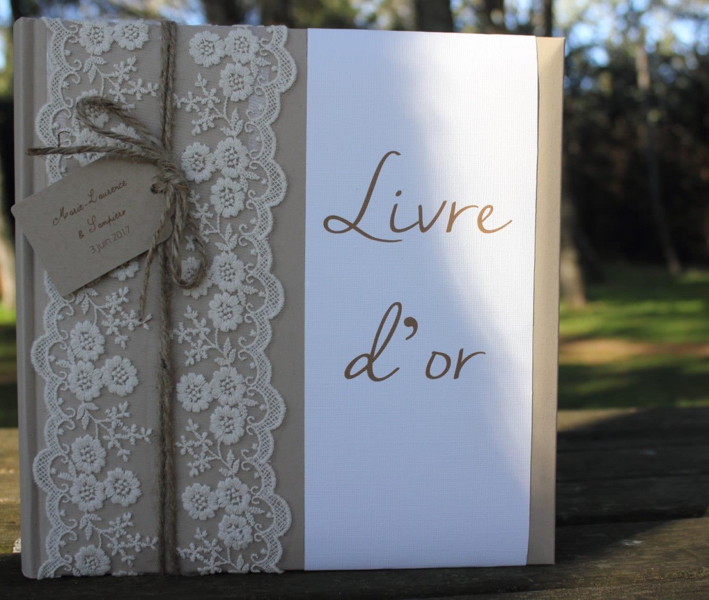 livre d 39 or gamme mariage champ tre chic etsy. Black Bedroom Furniture Sets. Home Design Ideas