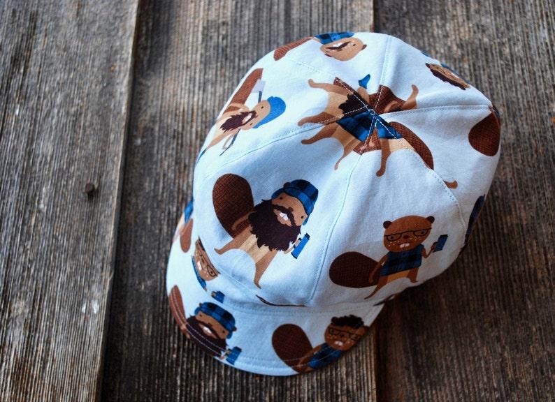 575956c06d2 Jockey Cap reversible hat boy sun hat baby boy hat modern