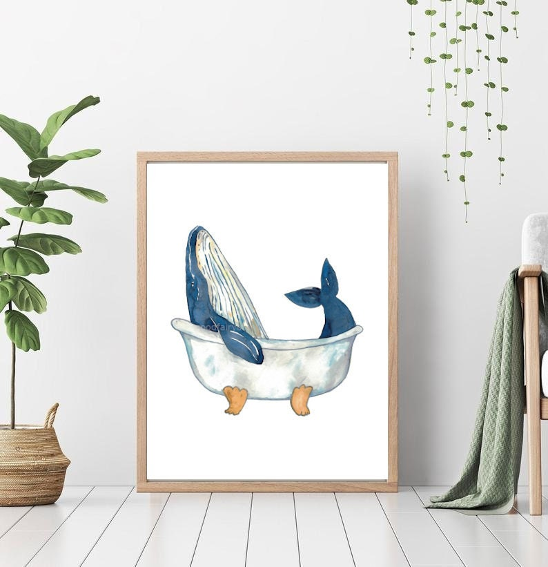 """Humpback Whale Takes a Bath"" Print"