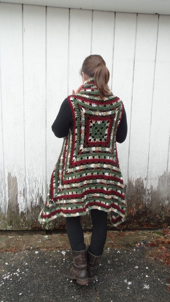 Häkeln Sie Oma Quadratische Pullunder Pullover Boho Etsy