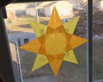 Sunshine Waldorf Window Star