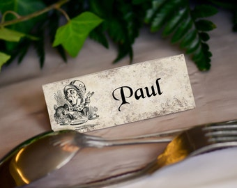 Alice in Wonderland, Wedding Place Name Cards (with names)