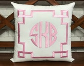 30 OFF Monogram Hand Embroidery Pillow Valentine Couple Dorm Decor Wedding Baby Birthday Pillow, Pillow Form Available In All Sizes