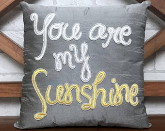 50% Sale You Are My Sunshine Pillow Personalized Mother's Day Love Valentine Anniversary Gift in All Sizes Insert Included