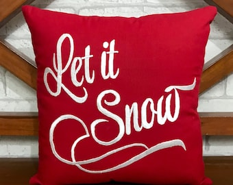 30% OFF Let It Snow Christmas Pillow, Christmas Decoration, Winter Fall Decor,Christmas Gifts, Pillow Form Available in all sizes and colors