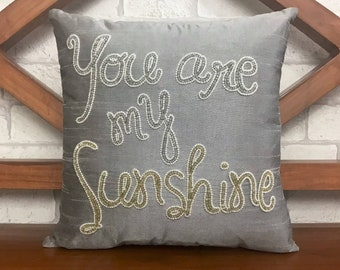30% OFF Sale You Are My Sunshine Pillow Personalized Mother's Day, Couple, Love, Valentine, Anniversary, Gift in All Sizes And Colors