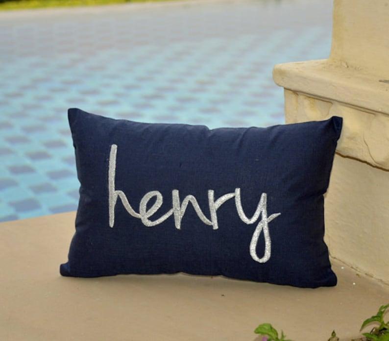 30% OFF Monogram Pillow Personalised Name PillowWedding image 0