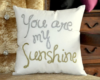 30% OFF Sale You Are My Sunshine Pillow Personalized Mother's Day, Love, Wedding, Valentine, Anniversary, Gift in All Sizes And Colors