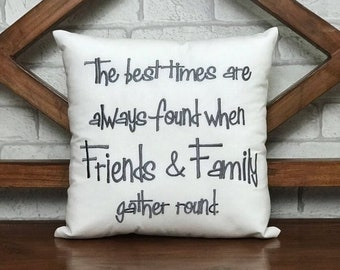 50% OFF sale Thanksgiving Pillow, Ready To Ship, Family Gather Round Pillow, Thanksgiving Fall Decor, Valentine decor Cushion pillow from
