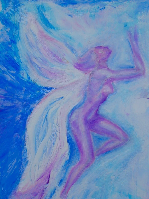 Water Elemental From my original oil painting. Folded Greeting Card 6x4 Blank for your own message