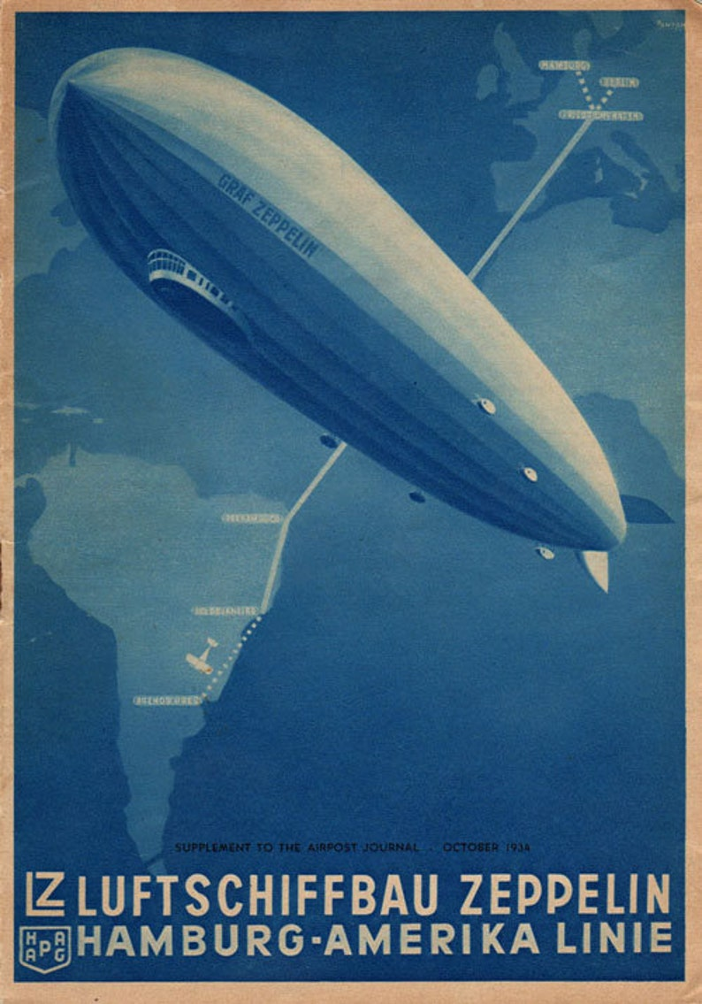 1933 Graf Zeppelin # C18 century Progress Cover New York USA LZ 127 to Detroit | eBay
