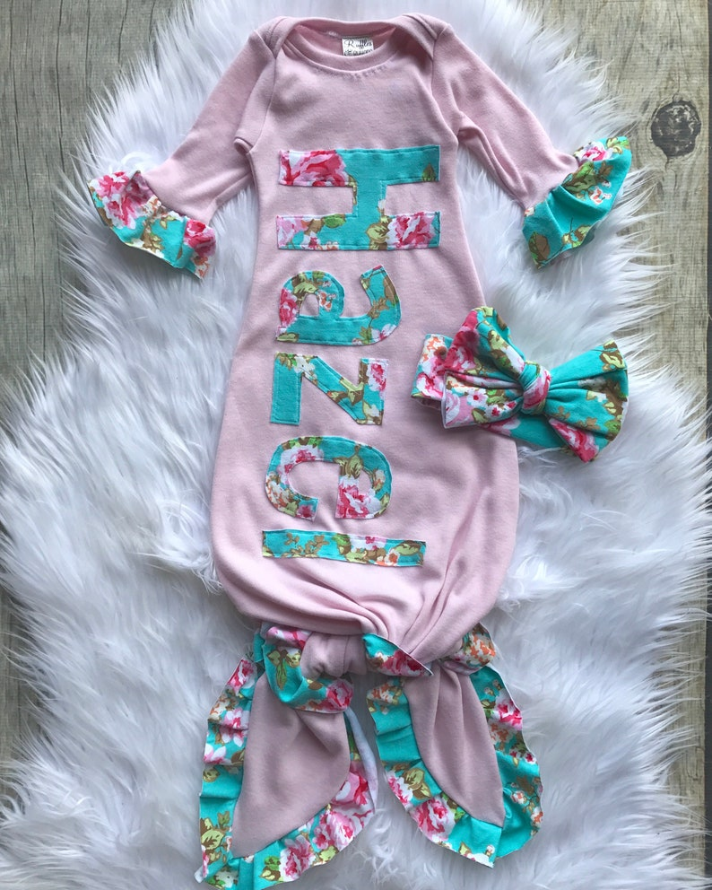 f7e6f33cc Custom infant name gown personalized take home set baby