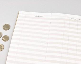 purchase tracker checkbook register traveler s notebook etsy
