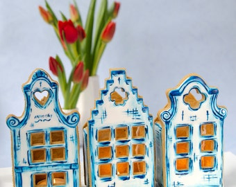 3D Gingerbread Canal Houses Cookie Cutter Set