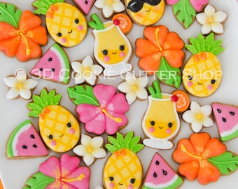 Tropical Party Mini Cookie Cutter Set