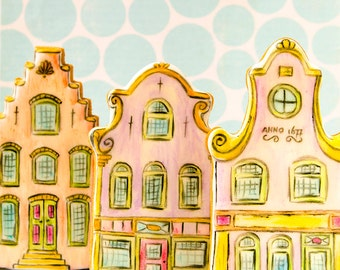Canal Houses Cookie Cutter Set (facades)