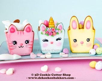 3D Animal Cookie Box Cutter Set