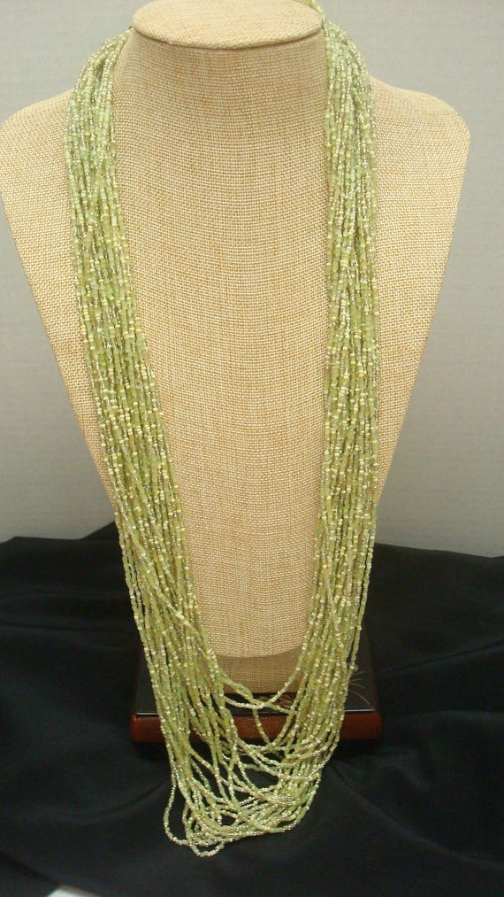 Joan Rivers Celadon Green Czech Seed Glass Bead Lo