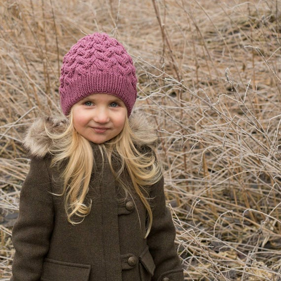 Toddler merino hat cable knit baby toddler merino kids knit  f5f6fc491f4