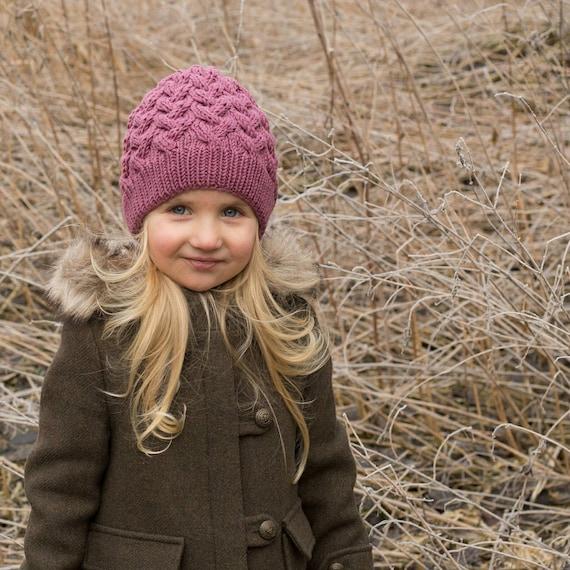 Toddler merino hat cable knit baby toddler merino kids knit  faa108bf099