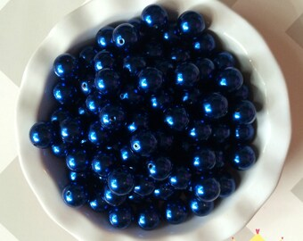 20mm Royal Blue Chunky Beads Bubble Gum Pearls (A65)