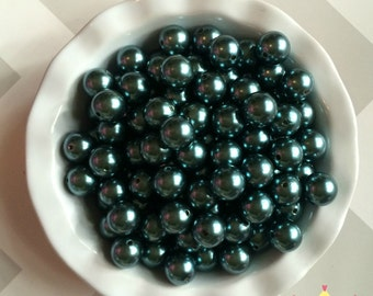 20mm Dark Teal Chunky Beads Bubble Gum Pearls (A16)