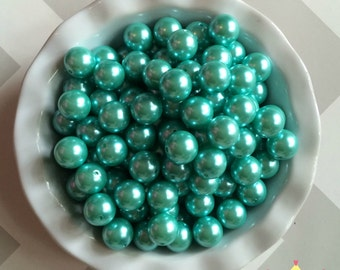 20mm Little Mermaid Aqua Chunky Beads Bubble Gum Pearls (A69)