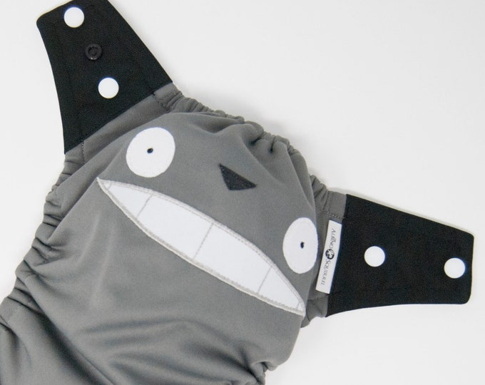 Totoro, Studio Ghibli, Baby Cloth Diaper Cover or Pocket Diaper (One Size)