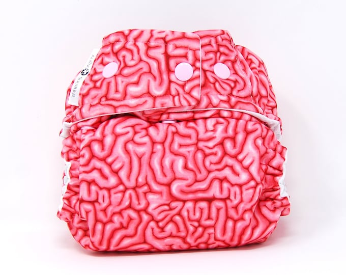 Brains Cloth Diaper Cover or Pocket Diaper (One Size)