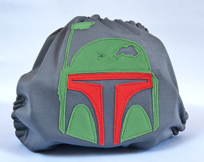 Boba Fett Mandalorian Cloth Diaper Cover or Pocket Diaper (One Size)