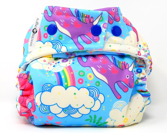 Unicorns Cloth Diaper Cover or Pocket Diaper (One Size)
