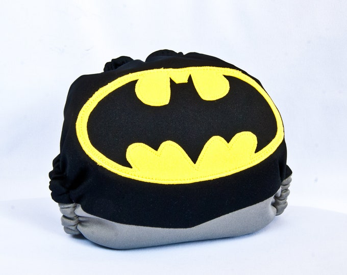 Batman Superhero Cloth Diaper Cover or Pocket Diaper (One Size)