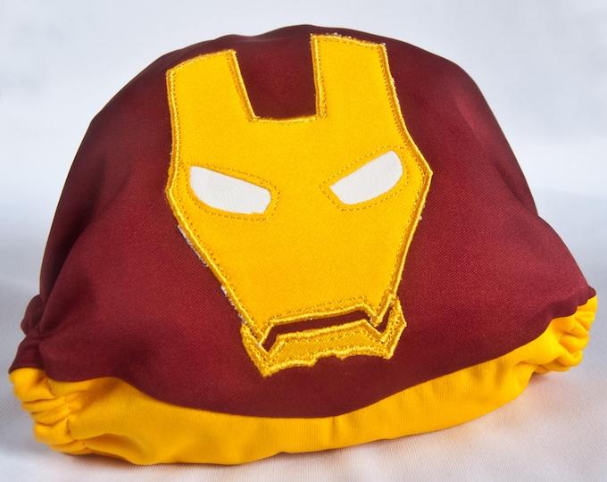 Iron Man Superhero Cloth Diaper Cover or Pocket Diaper (One Size)