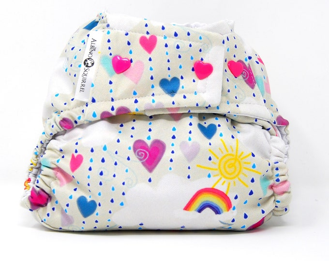 Rainbows and Sunshine Cloth Diaper Cover or Pocket Diaper (One Size)