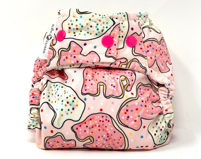 Animal Cookies Cloth Diaper Cover or Pocket Diaper (One Size)