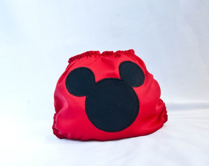 Mouse Cloth Diaper Cover or Pocket Diaper (One Size)
