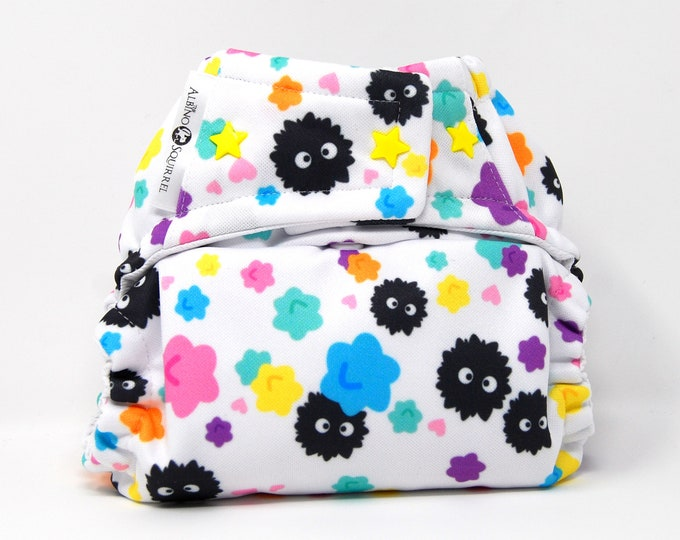 Dust Bunnies Cloth Diaper Cover or Pocket Diaper (One Size)