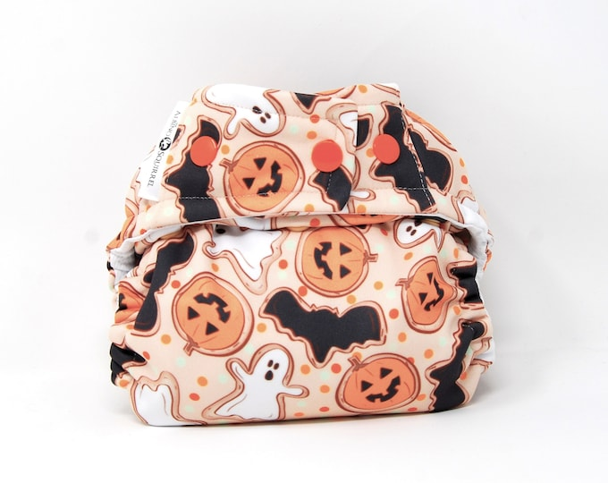 PRE-ORDER: Halloween Cookies Diaper Cover or Pocket Diaper (One Size) Baby Shower Gift