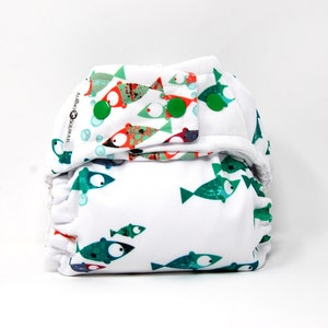 Baby Shower Gift Cloth Diaper : Sea Otters Print Cover or Pocket Diaper One Size Baby Nursery